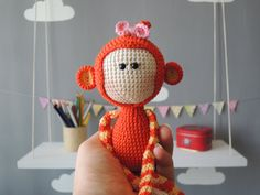 Christmas gifts Personalized kids Crochet doll by ColoredYarn