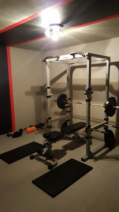 Home Gym - Finally done, and it turned out better than expected :D #homegym #garagegym #powerrack - http://amzn.to/2fSI5XT
