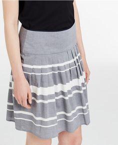 Striped Cotton Full Skirt (I'm drooling)
