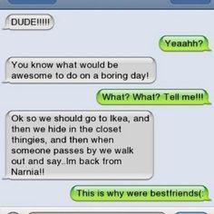 Bahahaha! Best idea EVER!!