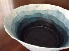 Smoky Mountain Bowl,recycled bowl, paper mache bowl,upcycled bowl