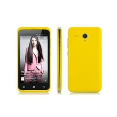 """4.5 Inch Budget Android 4.2 Phone """"Oriole"""" - 1.3GHz Dual Core CPU, GPS (Yellow)"""