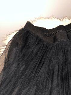 Pleated Elastic Waist Tulle Skirt   SHEIN USA Elastic Waist Skirt, Tulle Skirts, Black Mesh, Usa, Fashion, Moda, Fashion Styles, Fashion Illustrations, U.s. States