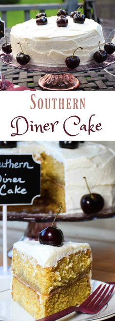 Southern Diner Cake - a product of Cake Magic! Brown Sugar cake, cherry syrup, and cream cheese frosting. #WeekdaySupper #CakeMagic @workmanpub @Wright