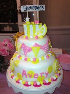 Pink Lemonade Cake Bday Girl, Little Girl Birthday, 2nd Birthday Parties, Birthday Ideas, Pink Lemonade Cake, Cupcake Cakes, Cupcakes, Kid Birthdays, Beautiful Birthday Cakes