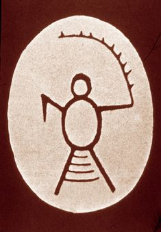 Saami drum painted with image of Mader Akka, great Mother and co-creatrix