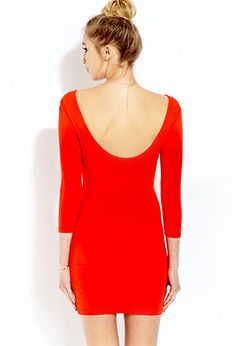 Favorite Low-Back Bodycon Dress | FOREVER 21 - 2000065287