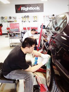 A shot from mobile wheel repair class from this past week March 2015.