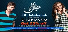 UAE Online Shopping NEWSFLASH!    Get 25% on All Regular Price Merchandise  To avail this offer enter code GIOSHOP at checkout  Offer valid until December 31, 2012  Shop now!