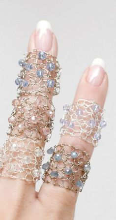 Pastel Metallic Cocktail Ring / Wide Wire Ring / Statement Jewelry