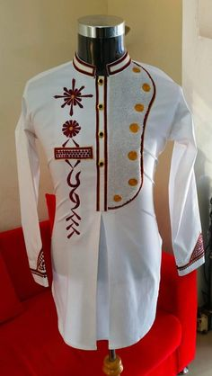 African men embroidered shirt Can be use for all Occasions Custom Request Available thank for visiting African Wear Styles For Men, African Shirts For Men, African Dresses Men, African Clothing For Men, Latest African Fashion Dresses, African Print Fashion, Baby African Clothes, Dashiki For Men, Kaftan