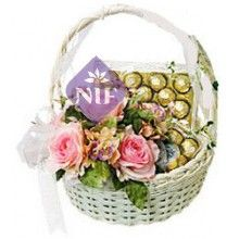 Basket of Roses and Chocolates