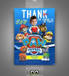 Paw Patrol Custom Birthday by frographicdesigns on Etsy