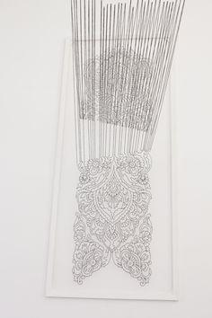 Faig Ahmed, 'Disconnection' (2014) Silk threads installation www.textilecurator.com