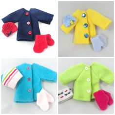 Doll Clothes: Coat Hats Mittens for Dress Up Dolls by JoellesDolls