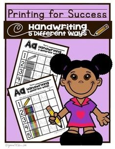 Printing for Success! Handwriting % Different ways! Letters A-Z Quick, and easy to implement! Handwriting 5 different ways makes handwriting Practice fun! Help your students form CAPITAL and LOWERCASE letters properly using different writing tools! Kindergarten Handwriting, Handwriting Alphabet, Nice Handwriting, Handwriting Worksheets, Handwriting Practice, Teaching Kindergarten, Teaching Resources, Teaching Ideas, Handwriting Recognition