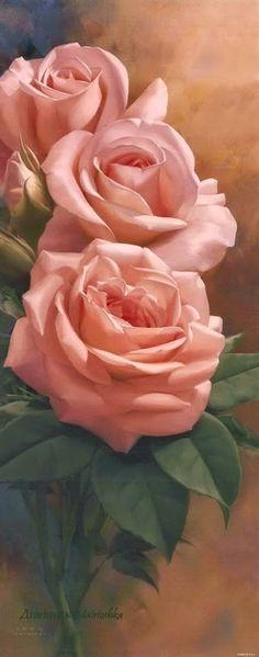 rosas en el arte