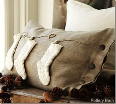 pottery barn inspired pillow tutorial. Love this but def need different material!