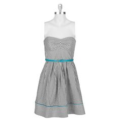 Teeze Me Juniors Stripe Strapless Dress #VonMaur