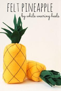 While Wearing Heels: I heart fake food - Pineapple Tutorial