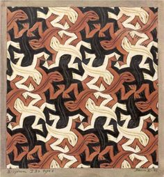 M.C. Escher 'Lizards' - great idea for exploration into tessellations :)
