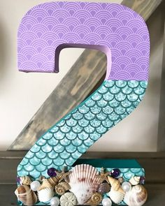 Under the Sea Number, The Little Mermaid, under the sea table number, under the sea party, ariel par Mermaid Birthday Party Decorations Diy, Mermaid Theme Birthday, Little Mermaid Birthday, Birthday Party Tables, Little Mermaid Parties, The Little Mermaid, 2nd Birthday, Birthday Ideas, Under The Sea Decorations