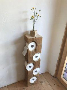 Simple & pratique le dérouleur et porteur de papier wc! #WoodworkingProjects