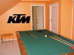 Wall sticker mural vinyl MOTOCROSS KTM Dirt Bike 001. $22.99, via Etsy.