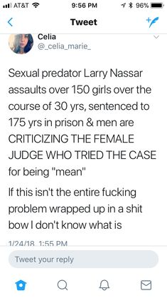 """People pretend there's a """"War on men"""" when in reality they're just being called out for their destructive shit. Meanwhile, we still can't get people to treat women equally and respect them as people."""