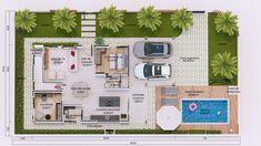 O pavimento térreo conta com sala de tv, jantar e cozinha gourmet integrados. Escritório, depósito e dormitório e um banho reversível. Em sua área externa temos a lavanderia, garagem para dois veículos e piscina. Contando com 3 dormitórios sendo dois deles suítes no pavimento superior possui também uma varanda ampla e aconchegante com vista para a área de lazer. Casas The Sims Freeplay, Suites, House 2, House Plans, Floor Plans, Bike, Tv, New Houses, Small Country Homes