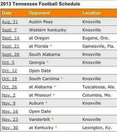 2013 Football Schedule