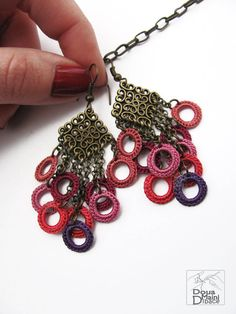 Handmade silk radiant orchid crochet fringe by ShopDeLorai on Etsy, $12.00