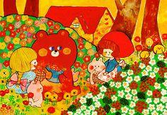 Tumblr Animal Drawings, Cute Drawings, Vintage Cartoon, Kawaii Art, Psychedelic Art, Cute Illustration, Cute Wallpapers, Art Boards, Cute Art