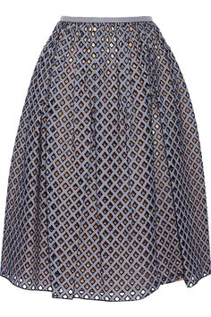 MICHAEL KORS Pleated broderie anglaise midi skirt AU$1,591.03 http://www.net-a-porter.com/products/538783