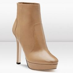 Jimmy Choo Dyers 120mm Blonde Calf Leather Booties  Heels: 120mm  Color: Blonde  Material: Calf Leather