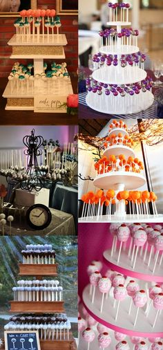 Cake pop towers; add some sparkle and color to create a uniquely designed masterpiece!