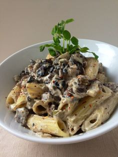 Mushroom Alfredo. Dairy-free and delicious! Sautéed mushrooms & leeks in coconut oil. Mix 1c. soaked cashews, 1/8 c. nutritional yeast, garlic, a bit a water and truffle salt in a blender. Add to mushroom pan to gently heat.  Pour over your favorite noodles. Go to www.figandbasil.com for more great dairy free recipe ideas