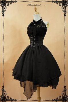 Lace Market is the largest online marketplace for EGL (Elegant Gothic Lolita) Fashion. Sell and buy Lolita dresses, skirts, accessories and more with thousands of users around the world! Pretty Outfits, Pretty Dresses, Beautiful Dresses, Moda Lolita, Mode Costume, Gothic Lolita Fashion, Gothic Lolita Dress, Lolita Style, Black Gothic Dress