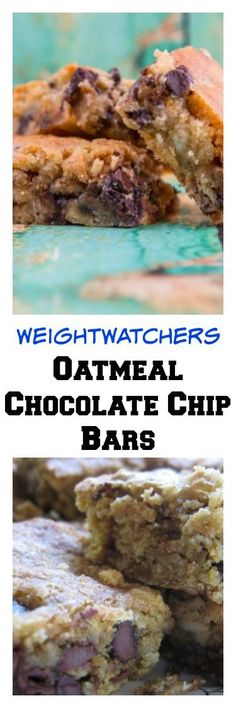 Weight Watchers Moist & Chewy Low Fat Oatmeal Chocolate Chip Cookie Bars Recipe