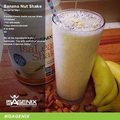 Wake up and blend this creamy Banana Nut whey protein shake recipe!