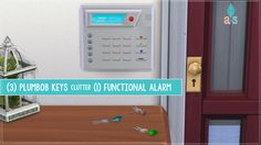 (3) Plumbob Keys & (1) Functional Alarm