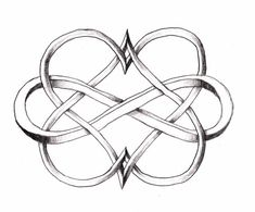 Infinity double heart - love this for a tattoo design - Click image to find more DIY & Crafts Pinterest pins