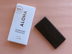 Vegan, organic, super food chocolate from ALOHA! They also make greens powders and natural supplements. For 20% off of your purchase use discount code ERICALYN :)