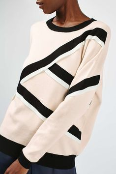 Strap Detail Sweatshirt - Knitwear - Clothing - Topshop