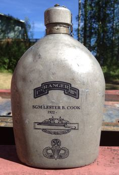 cermark on a WWII metal canteen Canteen, Laser Engraving, Wwii, Vodka Bottle, Business, Metal, World War Ii, Metals, Store