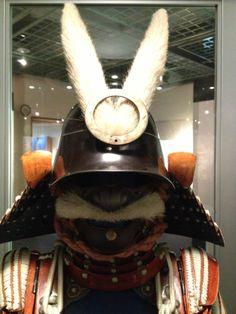 Samurai Armor on display at Okazaki park museum at Okazaki Castle near Toyota, Aichi Prefecture, Japan.