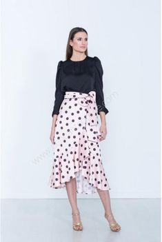 Midi Skirt, Polka Dots, Floral, Skirts, Fashion, Vestidos, Shopping, Polka Dot Skirts, Blouses