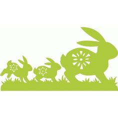 Bunny Rabbits . . . I think I'm in love with this design from the Silhouette Design Store!