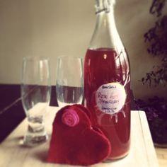 Bottled Roses Kombucha - Second ferment using strawberries and rose hips