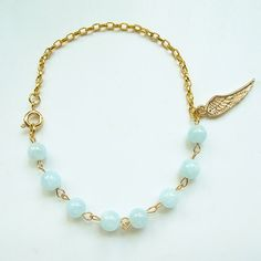 Natural aquamarine, candy color gemstone bracelet with 24K gold plated wing charm, multi-color available, FREE shipping #christmas #xmas #halloween #highquality #affordable #freeshipping #bead #beads #gem #gems #gemstone #gemstones #jewelry #jewellery #jewelrymaking #jewelrysupplies #jewelrysupply #etsy #farragem #design #designer #handcrafted #handmade #ring #necklace #earrings #bracelet #pendant Ring Necklace, Beaded Necklace, Earrings, Gemstone Bracelets, Candy Colors, Xmas, Christmas, Jewelry Supplies, Turquoise Necklace